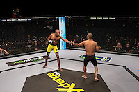 JOHANNESBURG, SOUTH AFRICA - MAY 13:      Bill Thusi vs Yusuf Hassan during EFC 49 Fight Night at the Big Top Arena, Carnival City, Johannesburg, South Africa on May 13, 2016. (Photo by Anton Geyser/ EFC Worldwide)