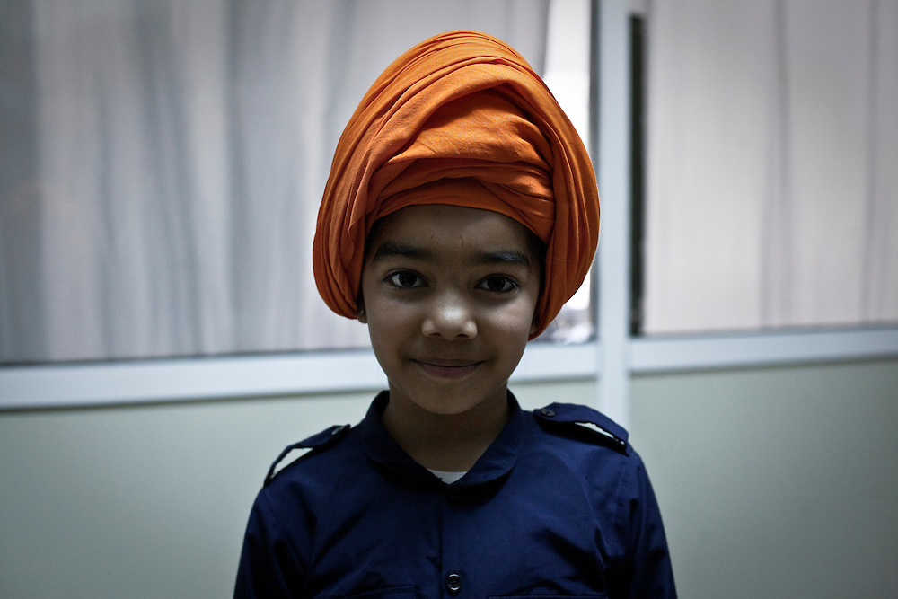 Athens, Greece, April 11 2015 - Indian Sikh pilgrims living in Greece gathered in Tavros, a south district of Athens to celebrate Vaisakhi which marks the establishment of the Khalsa.