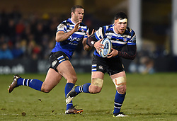 Francois Louw of Bath Rugby in possession - Mandatory byline: Patrick Khachfe/JMP - 07966 386802 - 29/11/2019 - RUGBY UNION - The Recreation Ground - Bath, England - Bath Rugby v Saracens - Gallagher Premiership