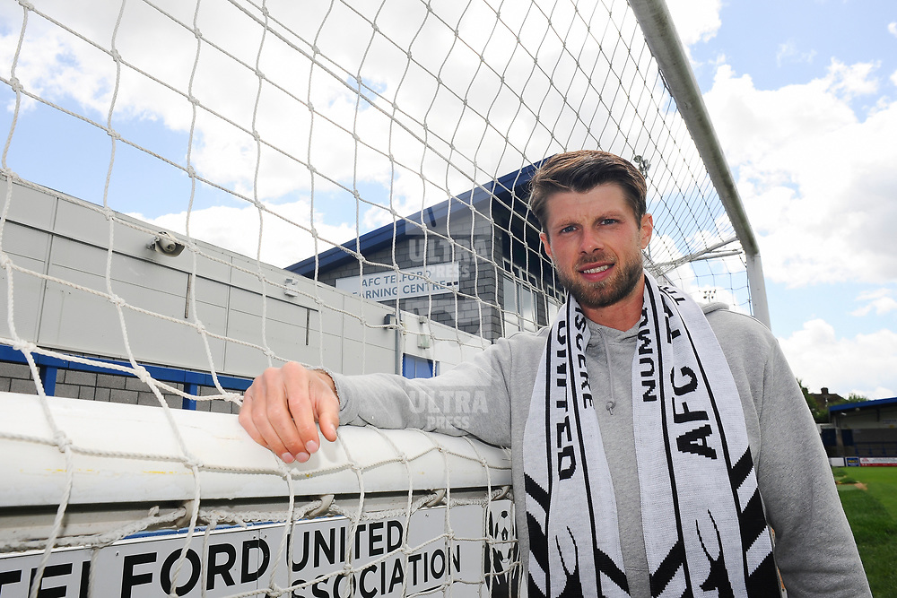 TELFORD COPYRIGHT MIKE SHERIDAN AFC Telford new signing Jason Oswell at the New Bucks Head Stadium on Friday, June 6, 2020.<br /> <br /> Picture credit: Mike Sheridan/Ultrapress<br /> <br /> MS202021-001