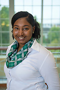 Amira Battle poses for a headshot. Photo by Hannah Ruhoff