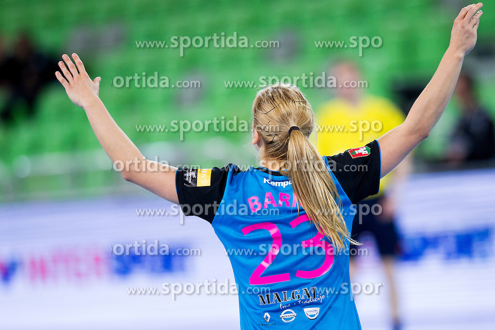 Polona Baric of RK Krim Mercator during handball match between RK Krim Mercator (SLO) and HCM Baia Mare (ROM) in 1st Round of Women's EHF Champions League 2015/16, on October 16, 2015 in Arena Stozice, Ljubljana, Slovenia. Photo by Urban Urbanc / Sportida