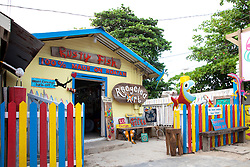 The Rusty Fish, a souvenir shop selling craft items made from island scrap.