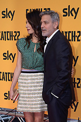 George Clooney and wife Amal Alamuddin attend the red carpet of the serie Catch-22 in Rome. 13 May 2019 Pictured: George Clooney, Amal Alamuddin. Photo credit: MEGA TheMegaAgency.com +1 888 505 6342