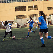 Moments of the last match of the Lebanon senior league between Girls Football Academy and Football Club Beirut: is on the line the second place of the league