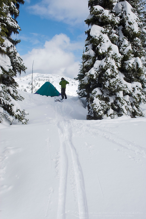 Backcountry ski camp, Manning Provincial Park British Columbia Canada