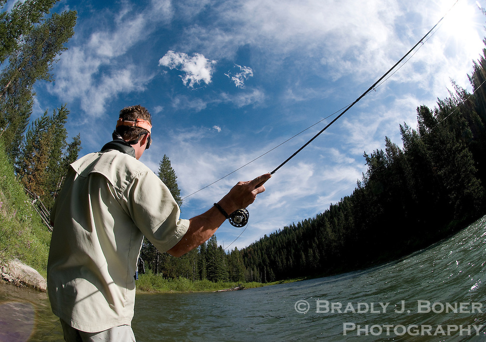 Fishing on the Grays River, Wyoming Range