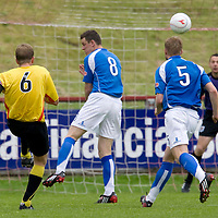 Partick Thistle v St Johnstone..23.08.08<br /> Ian Maxwell volleys home to make it 2-0<br /> Picture by Graeme Hart.<br /> Copyright Perthshire Picture Agency<br /> Tel: 01738 623350  Mobile: 07990 594431