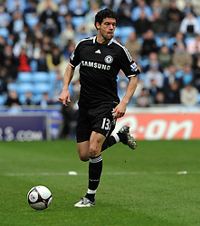 Michael Ballack of Chelsea in action during the FA Cup Sponsored by E.ON 6th round match between Coventry City and Chelsea at the Ricoh Arena on March 7, 2009 in Coventry, England.