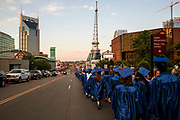 The Hume-Fogg class of 2017 takes their annual walk to commencement ceremonies in downtown Nashville. (The Tennessean)