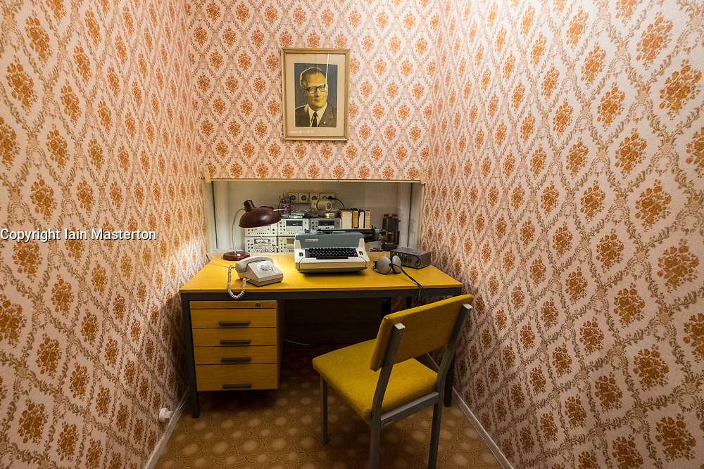 STASI listening station on display  at DDR Museum, showing life in former East Germany,  in Mitte Berlin, Germany