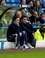 Photo: Jed Wee.<br />Leeds United v Southend United. Coca Cola Championship. 28/10/2006.<br /><br />Leeds' new manager Dennis Wise (L) with new assistant manager Gus Poyet.
