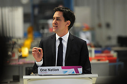 Ed Milliband visits the Bedford Training Group to give a speech on Labours One Nation Labour Agenda, Bedfordshire, UK, February 14, 2013.  Photo by Matthew Power / i-Images.