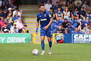 AFC Wimbledon defender Luke O'Neill (2) about to pass the ball during the EFL Sky Bet League 1 match between AFC Wimbledon and Rotherham United at the Cherry Red Records Stadium, Kingston, England on 3 August 2019.