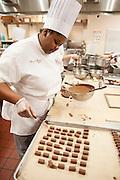 Culinary Institute of America, Poughkeepsie, November 2016.<br /> <br /> Schokoladenklasse von Peter Greweling<br /> <br /> Photo &copy; Stefan Falke <br /> New York <br /> www.stefanfalke.com <br /> stefanfalke@mac.com <br /> 917-2149029