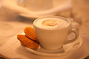 coffee,cafe au lait,with biscuits