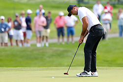 June 22, 2018 - Cromwell, Connecticut, United States - Jason Day putts the 8th green during the second round of the Travelers Championship at TPC River Highlands. (Credit Image: © Debby Wong via ZUMA Wire)