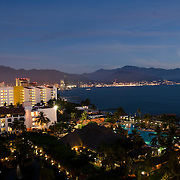Night view of Puerto Vallarta from Melia PVR. Puerto Vallarta,Jalisco. Mexico