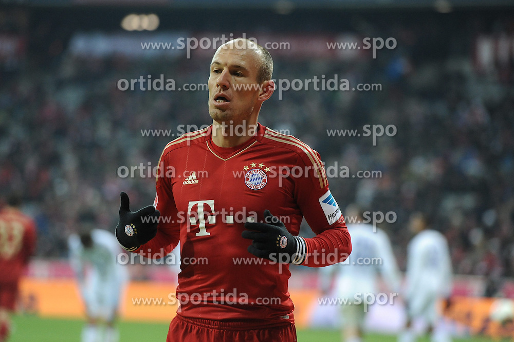 09.02.2013, Allianz Arena, Muenchen, GER, 1. FBL, FC Bayern Muenchen vs Schalke 04, 21. Runde, im Bild Arjen ROBBEN (FC Bayern Muenchen) // during the German Bundesliga 21 th round match between FC Bayern Munich and Schalke 04 at the Allianz Arena, Munich, Germany on 2013/02/09,, , , , . EXPA Pictures © 2013, PhotoCredit: EXPA/ Eibner/ Wolfgang Stuetzle..***** ATTENTION - OUT OF GER *****