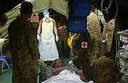 Banda Aceh, Indonesia<br />The tsunami on December 26 2004 devastated Banda Aceh. Australian and New Zealand medics perform operations in a maksehift field hospital in the carpark front of the badly damaged and flooded public hospital