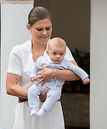 Borgholm, 14-07-2016 <br /> <br /> Birthday celebration of Crown Princess Victoria of Sweden with Prince Daniel, Princess Estelle and Prince Oscar, King Carl Gustaf and Queen Silvia at Soliden Palace.<br /> <br /> COPYRIGHT:ROYALPORTRAITS EUROPE/BERNARD RUEBSAMEN