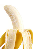 Studio shot of banana on white background