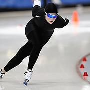 September 18, 2010 - Kearns, Utah - Briana Kramer races in long track speedskating time-trials held at the Utah Olympic Oval.