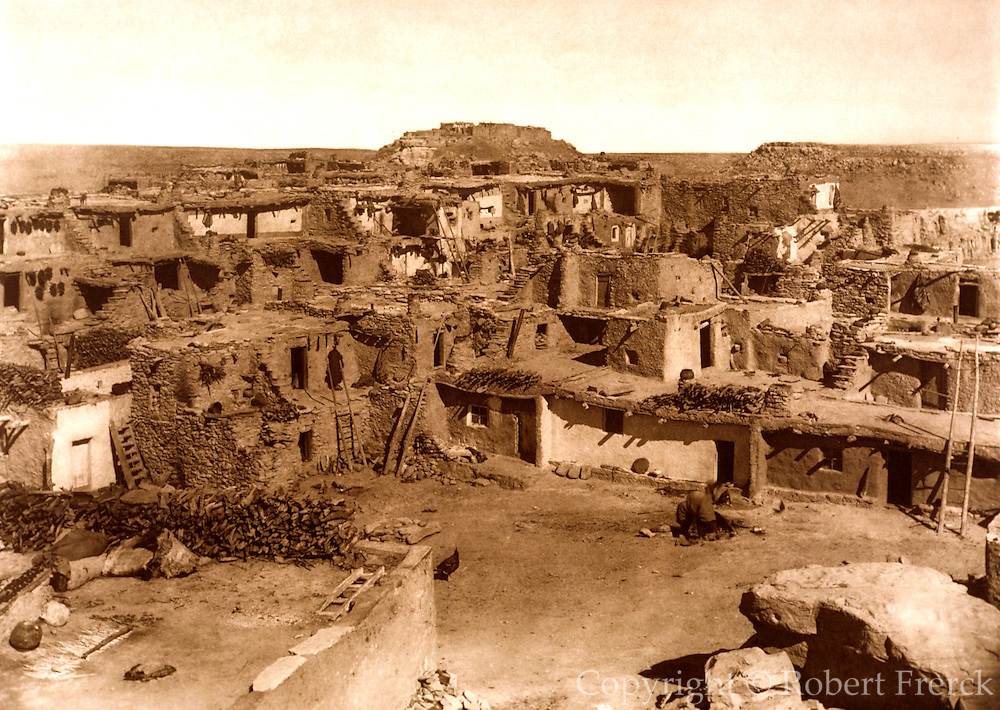 NATIVE AMERICANS E. Curtis photograph, early 20th century, Mishengovi (Hopi Village)