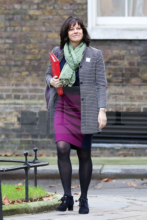 "© Licensed to London News Pictures. 18/12/2018. London, UK. Claire Perry - Minister of State at Department for Business Energy and Industrial Strategy arrives in Downing Street for the weekly Cabinet meeting. The Cabinet will discuss the preparations for a ""No Deal"" Brexit. Photo credit: Dinendra Haria/LNP"