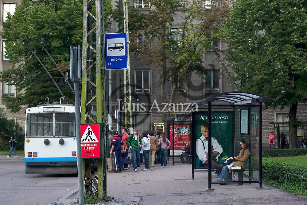 Scene of the city of Tallin in Estonia