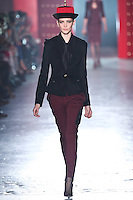 Caitlin Lomax walks down runway for F2012 Jason Wu's collection in Mercedes Benz fashion week in New York on Feb 10, 2012 NYC