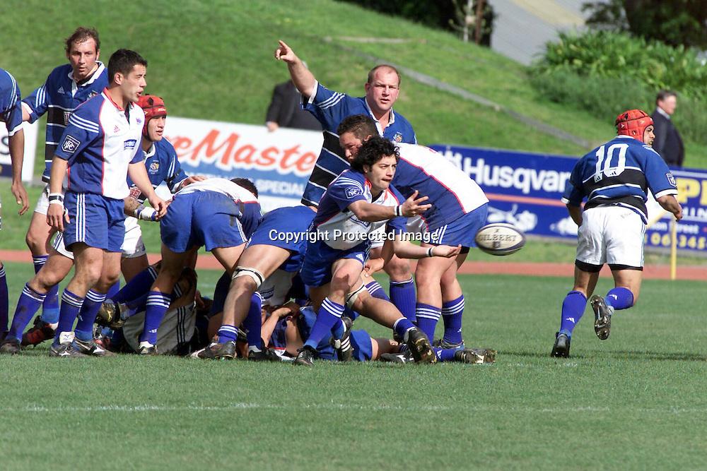 04/10/2003  WANGANUI NEW ZEALAND. Third Division NPC match, Wanganui vs Horowhenua Kapiti played at Westpac Stadium, Wanganui. Wanganui won 35 to 13<br />Horo-Kapiti's Dion Nepia.<br />Please credit: Photosport