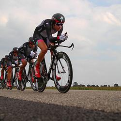 Boels Rental Ladiestour 2013 Team Time Trail Coevorden won by Specialized-Lululemon Carmen Small, Ellen van Dijk, Trixi Worrack, Evelyn Steens, Lisa Brennauer, Katie Colclough