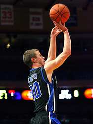 Nov 21, 2008; New York, NY, USA; Duke Blue Devils guard Jon Scheyer (30) takes a shot during the 2K Sports Classic Championship game at Madison Square Garden.