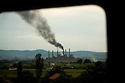 View of Kosova A powerplant from highway...Obilic, Kosovo, Serbia