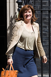 © Licensed to London News Pictures. 26/05/2015. London, UK. Nicky Morgan leaving Downing Street in London after a cabinet meeting. Photo credit : Vickie Flores/LNP