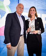 Arbitri<br /> Roberto Marotta<br /> Giorgia Filippini<br /> Premiazione Arbitri<br /> Final Four  Coppa Italia FIN Femminile pallanuoto 2016-17<br /> Centro Federale di Ostia, Roma, ITA<br /> 1 Aprile 2017<br /> &copy;Giorgio Scala / Deepbluemedia