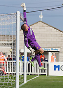Chris Dunn (Cambridge United) tips the ball over the bar during the Sky Bet League 2 match between Hartlepool United and Cambridge United at Victoria Park, Hartlepool, England on 19 September 2015. Photo by George Ledger.