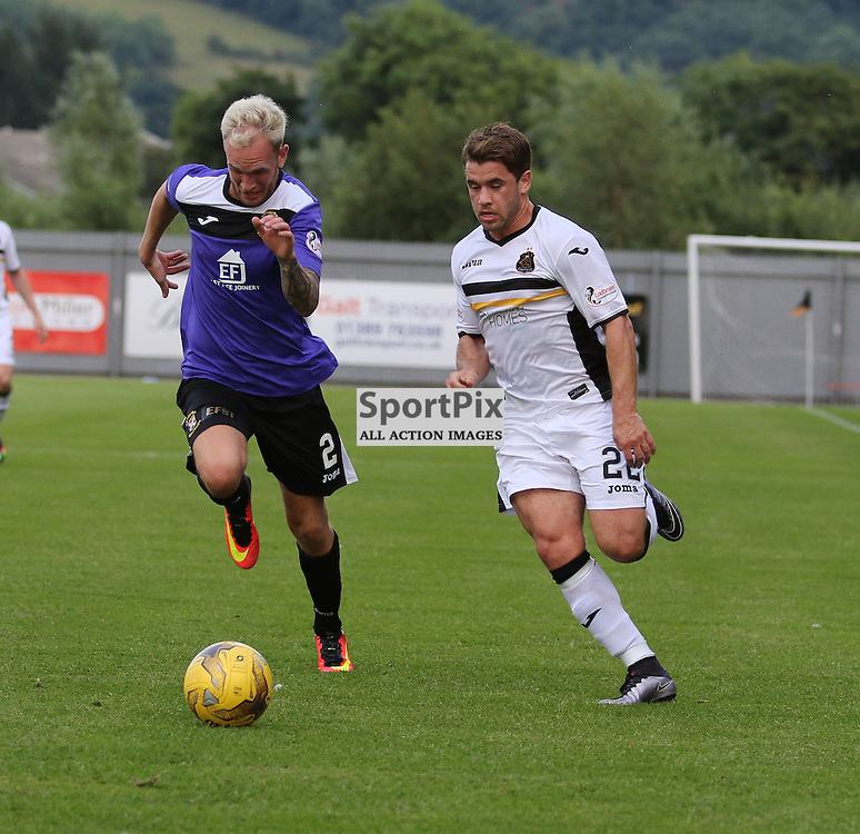 Andy Stirling on the wing during the Dumbarton v East Fife Scottish League Cup group stage 19 July 2016<br /> <br /> (c) Andy Scott | SportPix.org.uk
