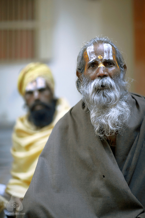 Sadhus (spiritual seekers), Pushkar, Rajasthan, India.