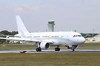 Airbus A319CJ, Farnborough International Airshow, Farnborough Airport UK, 18 July 2014, Photo by Richard Goldschmidt