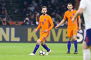 Netherlands Midfielder Davy Propper Midfielder (Brighton & Hove Albion), during the Friendly match between Netherlands and England at the Amsterdam Arena, Amsterdam, Netherlands on 23 March 2018. Picture by Phil Duncan.
