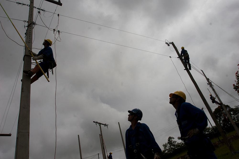 Conselheiro Lafayette_30 de janeiro de 2007.<br /> <br /> <br /> Centro de Treinamento da Andrade Gutierrez para as obras do programa Luz Para Todos em Minas Gerais.<br /> <br /> Foto: LEO DRUMOND / NITRO