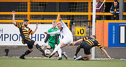 Falkirk's Mark Beck has a shot.<br /> half time : Alloa Athletic 0 v 0 Falkirk, Scottish Championship game played today at Alloa Athletic's home ground, Recreation Park.<br /> &copy; Michael Schofield.
