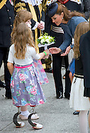 """KATE RECEIVES A POSY FROM 8-YEAR-OLD QUADRIPLEGIC ISABELLE WEALL.KATE AND PRINCE WILLIAM ACCOMPANY QUEEN ON NOTTINGHAM VISIT.The royal party undertook a small walkabout on their visit to Market Square, Nottingham as part of The Queen's Diamond Jubilee tour of the United Kingdom_13/06/2012.Mandatory Credit Photo: ©Dias/DIASIMAGES..**ALL FEES PAYABLE TO: """"NEWSPIX INTERNATIONAL""""**..IMMEDIATE CONFIRMATION OF USAGE REQUIRED:.Newspix International, 31 Chinnery Hill, Bishop's Stortford, ENGLAND CM23 3PS.Tel:+441279 324672  ; Fax: +441279656877.Mobile:  07775681153.e-mail: info@newspixinternational.co.uk"""