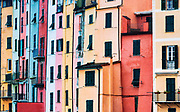 Colorful house facades, Porto Venere, Liguria, Italy