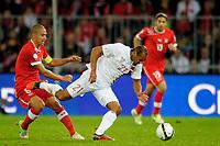 Bern, 12.10.2012, Fussball WM 2014 Quali, Schweiz - Norwegen, Goekhan Inler (SUI) gegen Daniel Braaten (NOR). (Daniel Christen/EQ Images)
