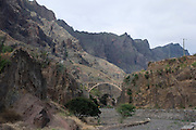Bridge in valley. San Antao. Cabo Verde. Africa.