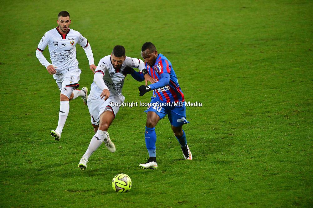 Lenny NANGIS / Lloyd PALUN - 05.12.2014 - Caen / Nice - 17eme journee de Ligue 1 -<br />Photo : Dave Winter / Icon Sport