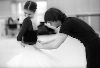 Alina Cojocaru and Angel Corella preparing for a rehearsal of La Bayadere
